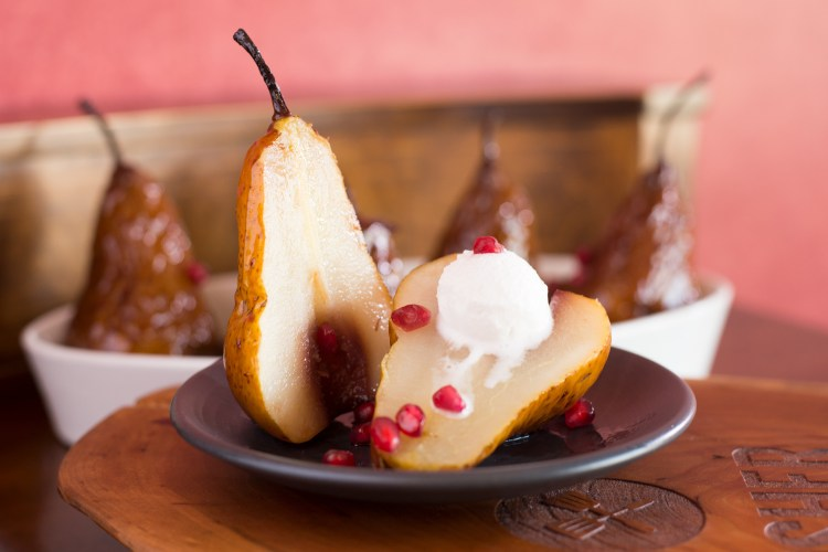 Glazed Roasted Pears