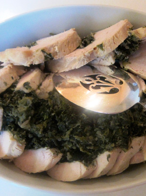 Rolled Turkey Breast Stuffed with Spinach