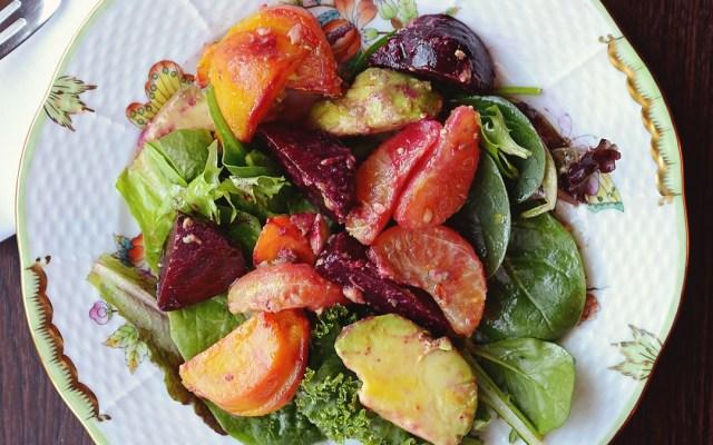 Roasted Beet, Clementine & Avocado Salad
