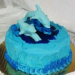Blue Dolphin Cake