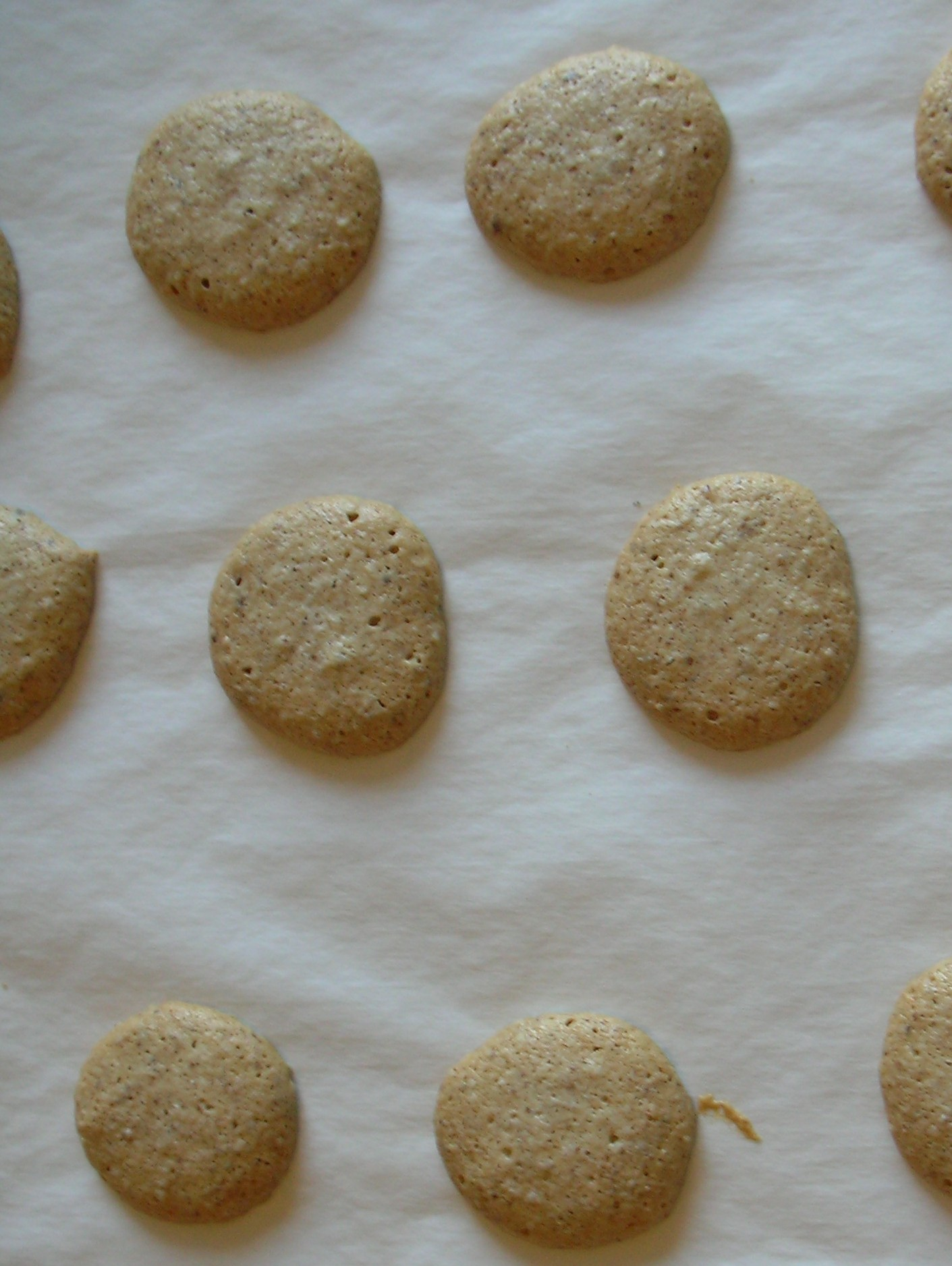 amaretti, fresh from the oven