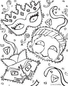 Purim Coloring Pages Idea - Whitesbelfast | 300x240