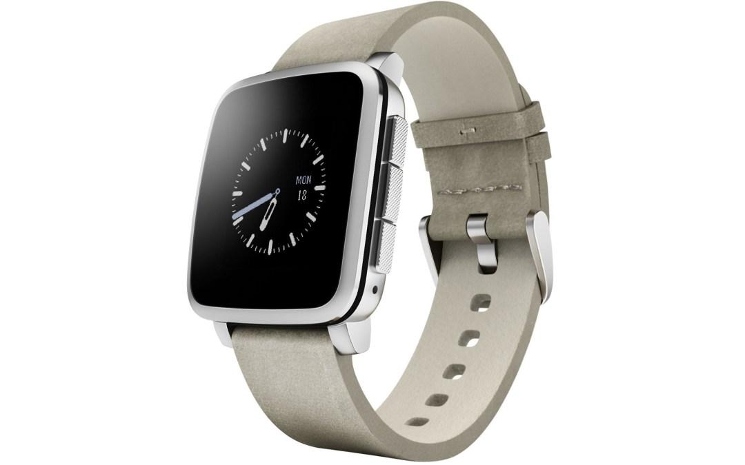 Pebble Time Steel Smartwatch Drop