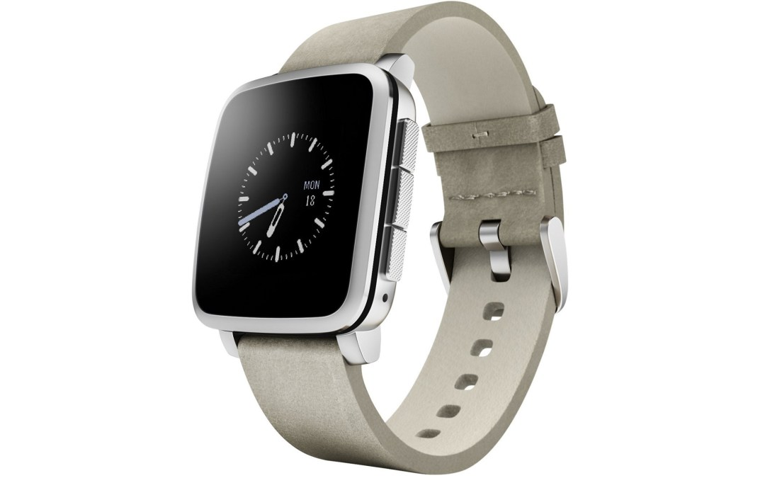 Pebble Time Steel Smartwatch Drop