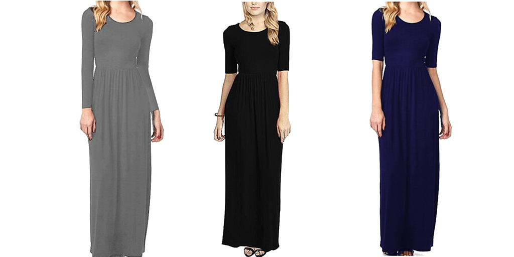 Amazon COUPON BEST PRICE: Meaneor Women's Empire Waiste Maxi Dress