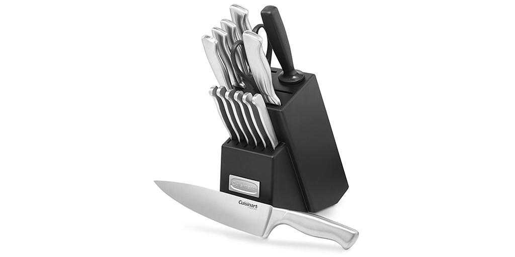 Amazon BEST PRICE on #PRIMEDAY: Cuisinart 15-Piece Stainless Steel Hollow Handle Block