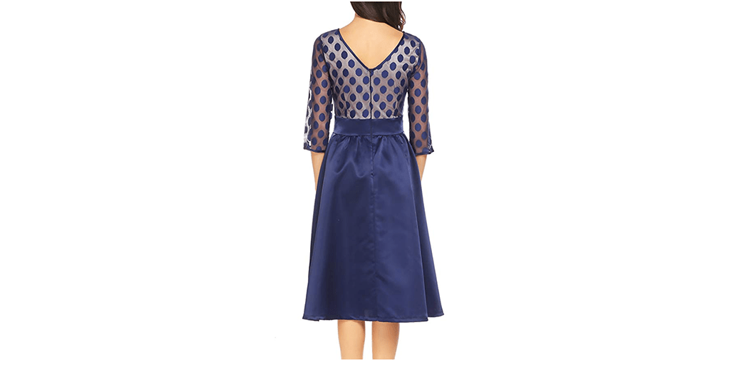 Amazon COUPON: Women's Illusion Vintage Dress