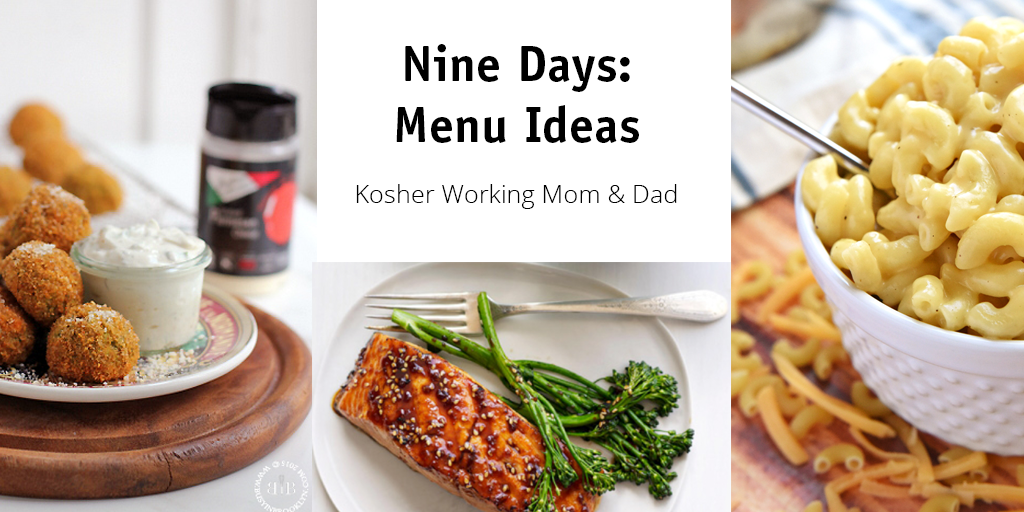 Nine Days Menu Planning: Ideas