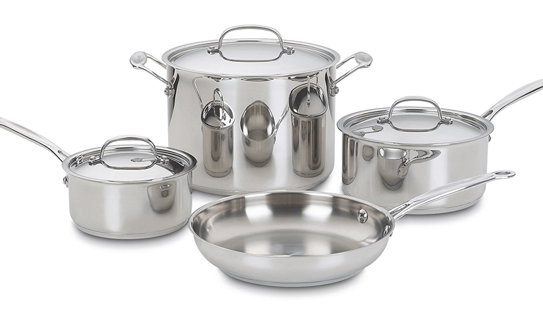 Amazon | BEST PRICE: Cuisinart 7-piece Cookware Set