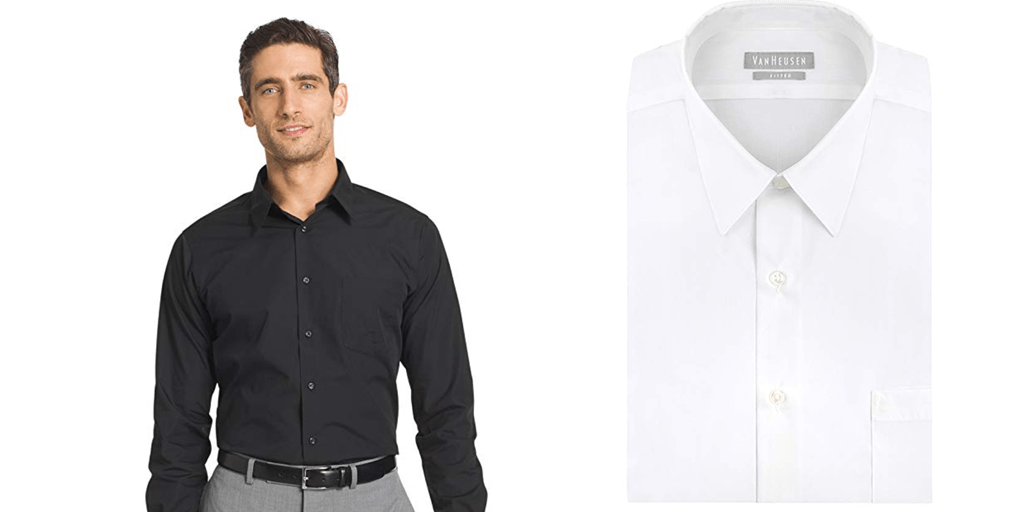 Amazon | BEST PRICE: Men's Dress Shirts in White & Black