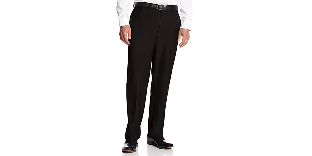 Amazon | BEST PRICE: Haggar Plain-Front Dress Pants