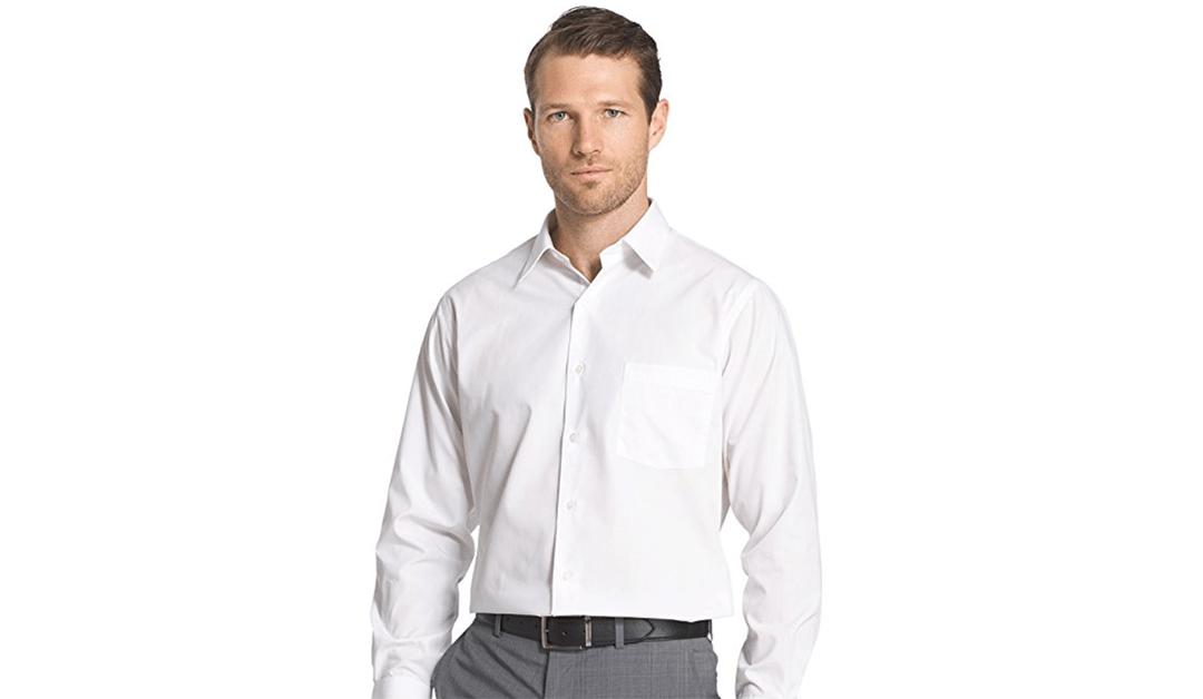 Amazon   BEST PRICE + COUPON: Van Heusen Men's Dress Shirts