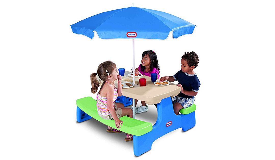 Amazon | BEST PRICE: Little Tikes Easy Store Picnic Table with Umbrella