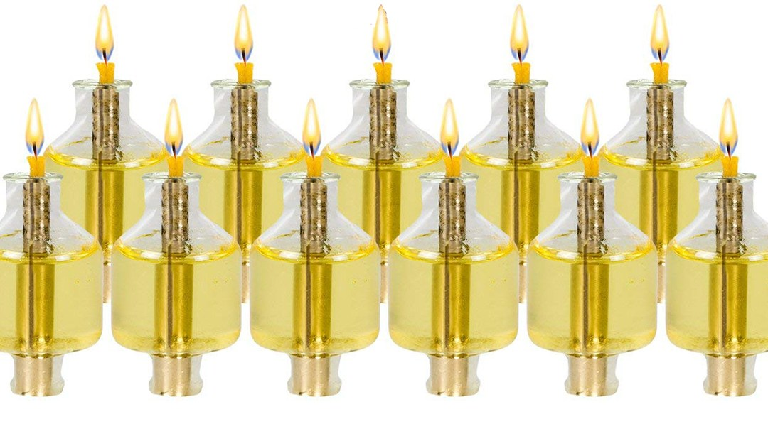 Amazon | BEST PRICE: Pre-filled Olive Oil Hanukkah Candles