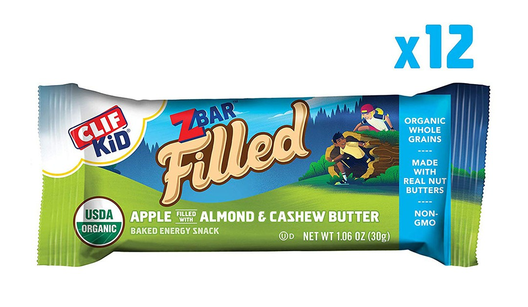 Amazon   BEST PRICE + SUBSCRIBE & SAVE + ADD-ON: Zbar filled with Apple Almond & Cashew Butter