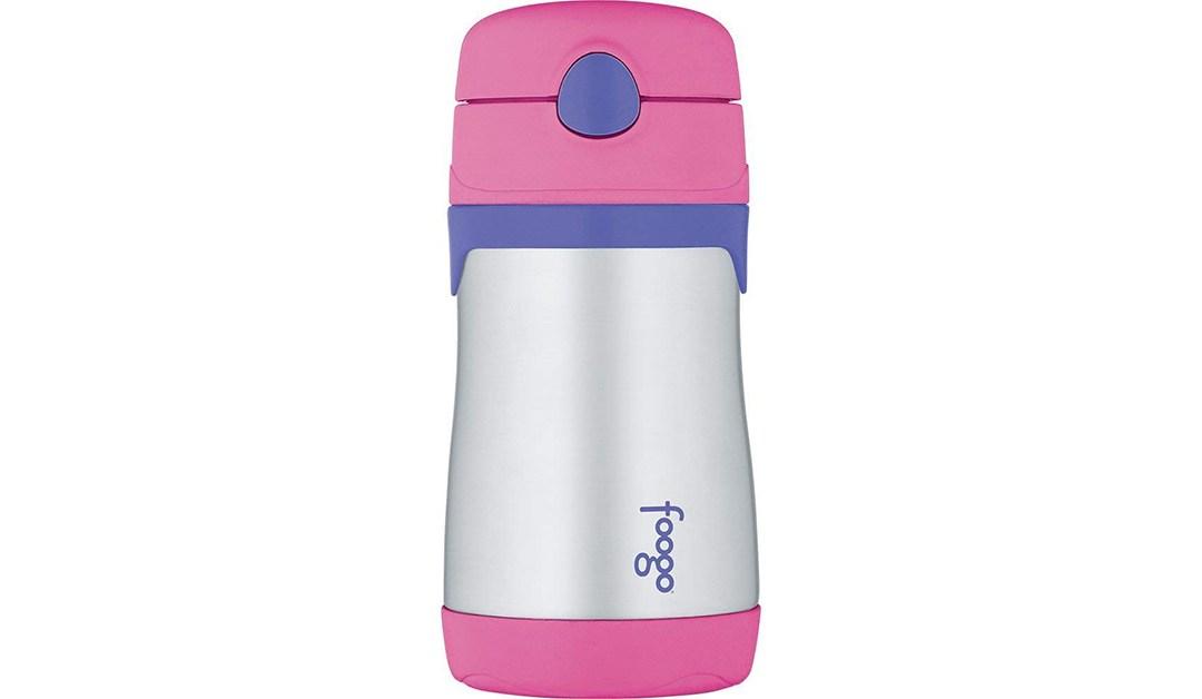 Amazon   GOOD DEAL + ADD ON: 10oz Thermos Foogo Straw Bottle