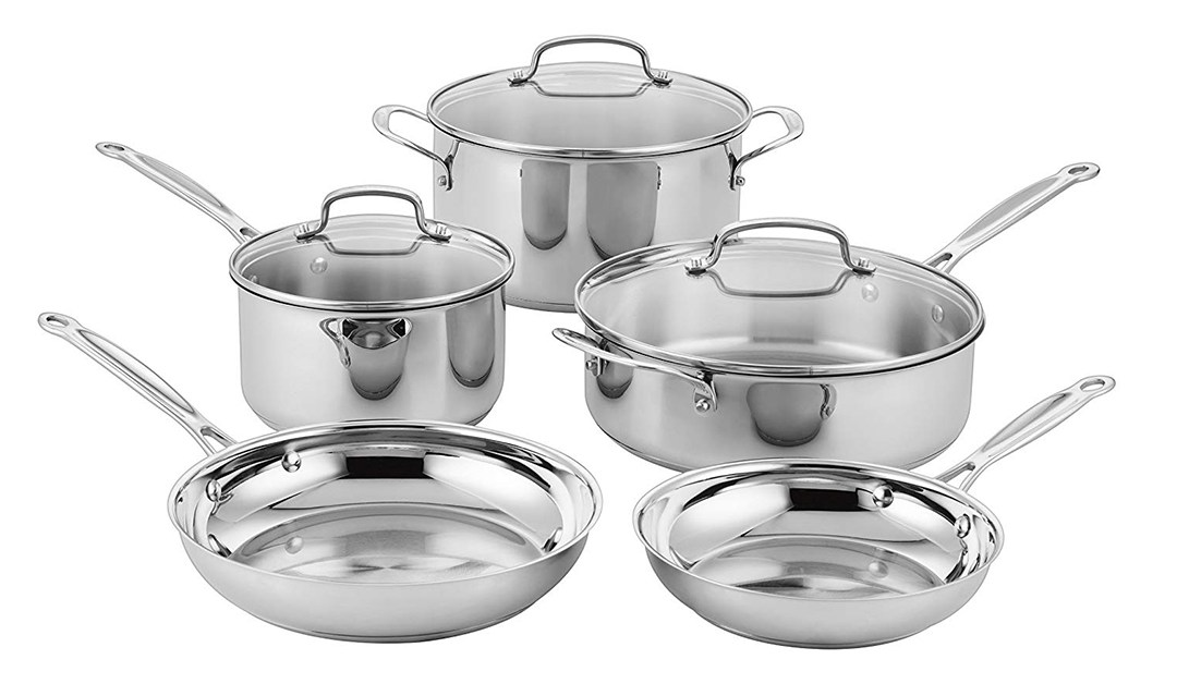 Amazon | BEST PRICE: Cusinart Stainless Steel Cookware Set