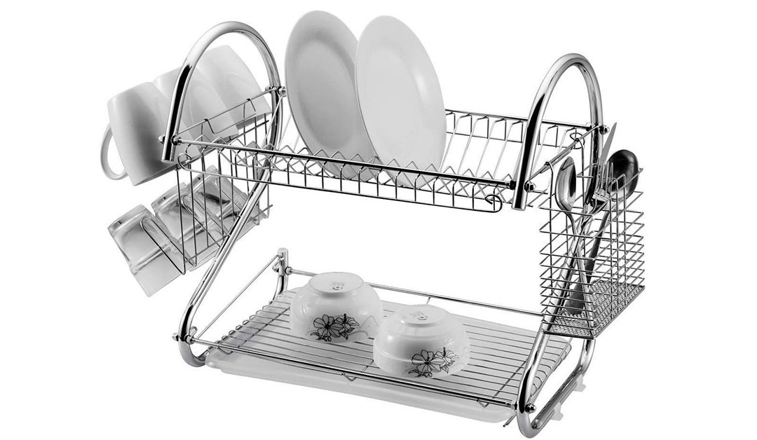 Amazon | BEST PRICE + COUPON: Stainless Steel Drain Rack