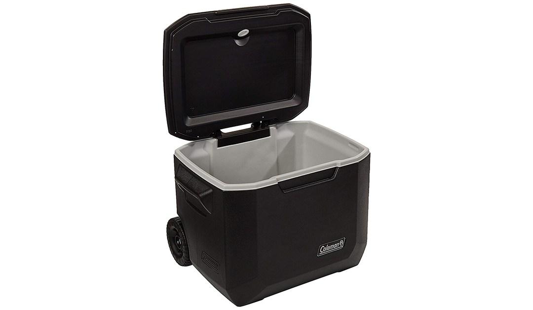 Amazon   BEST PRICE: Coleman 50 Quart Wheeled Cooler in Black