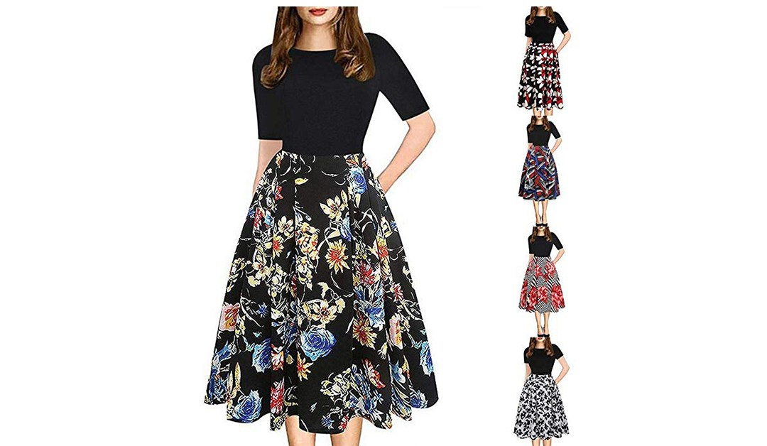Amazon | BEST PRICE + COUPON: Floral Midi Dress