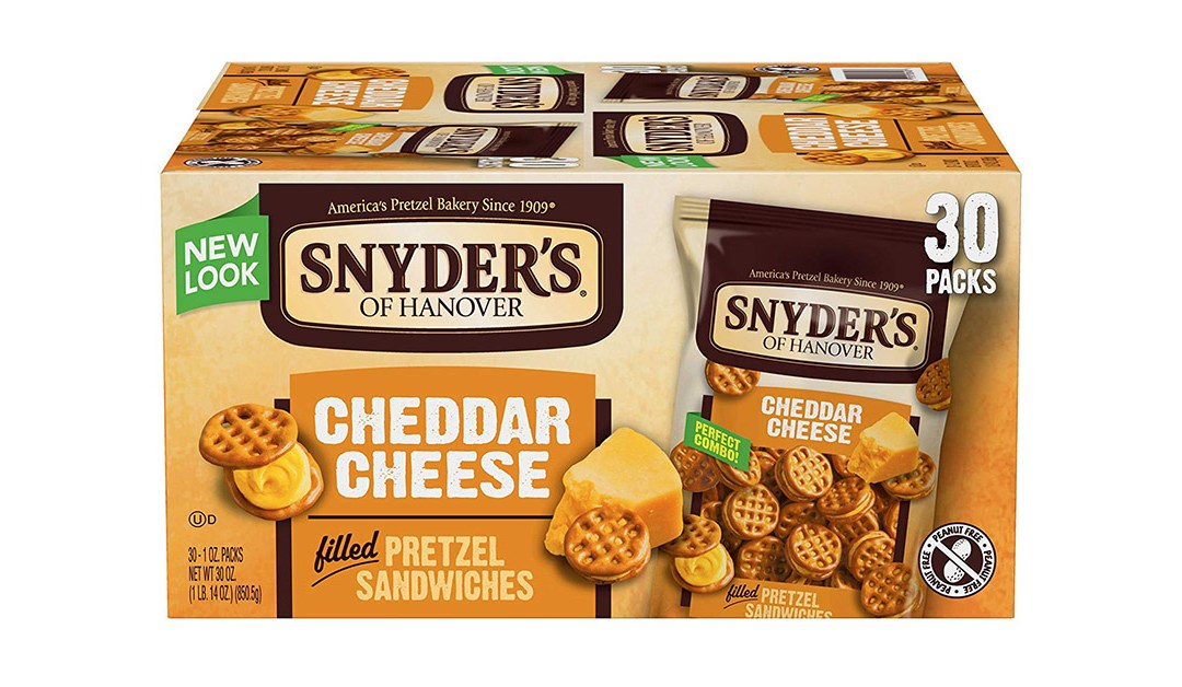 Amazon | BEST PRICE + SUBSCRIBE & SAVE + COUPON: Snyder's of Hanover Cheese Pretzel Sandwiches