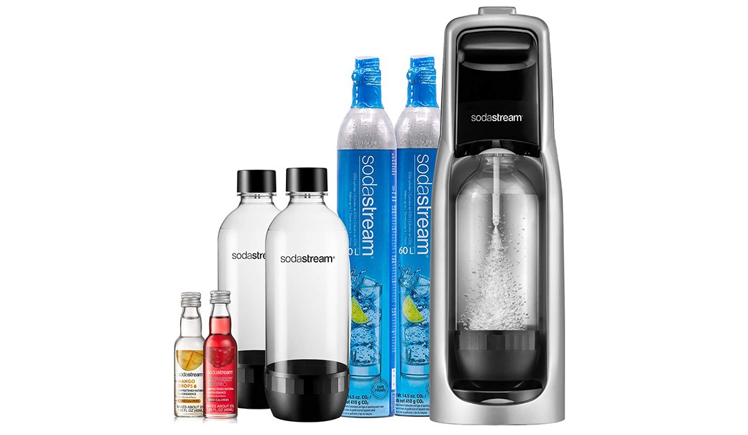 Amazon | BEST PRICE: Soda Stream Pack with CO2 + Bottles + fruit drops