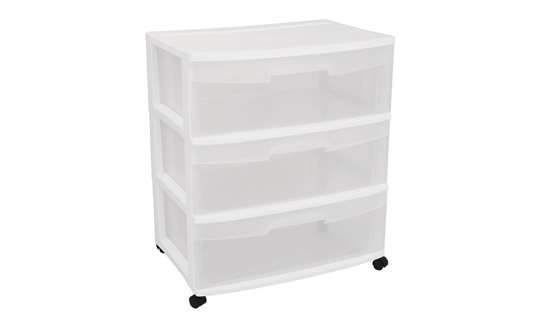 Amazon | GREAT DEAL: Sterilite Wide 3-Drawer Cart