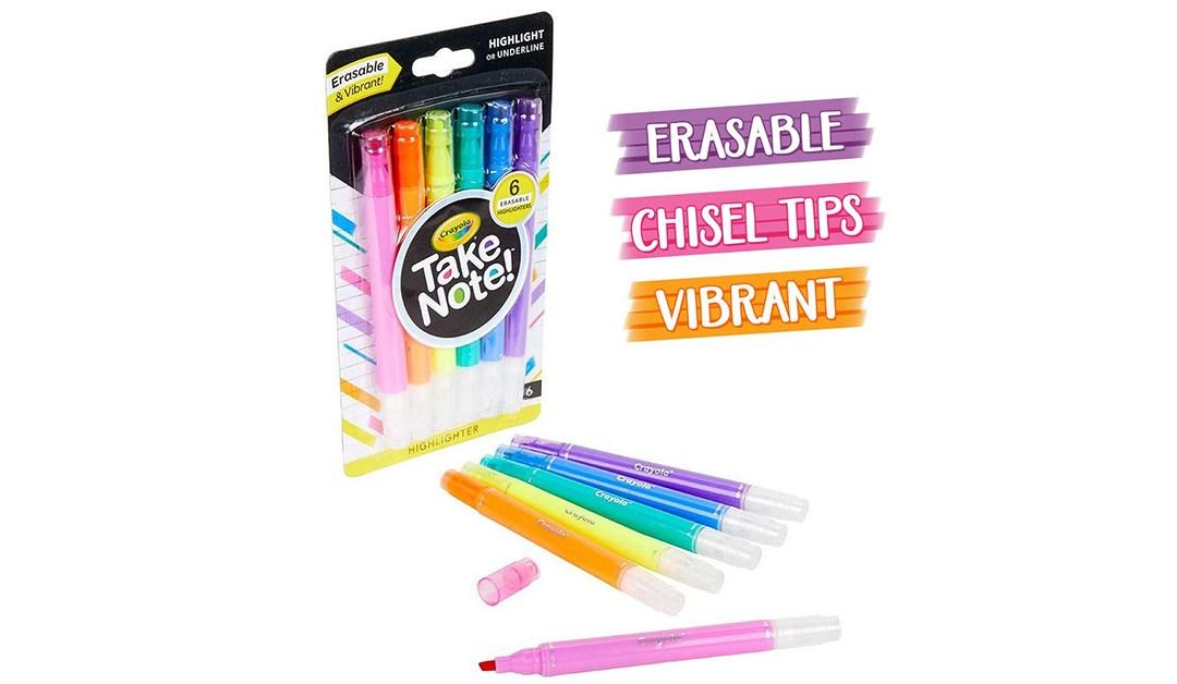 Amazon | BEST PRICE: Crayola Take Note! Erasable Highlighters