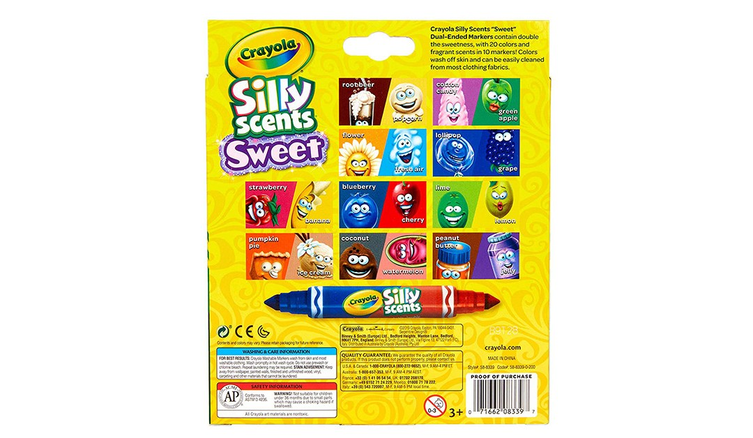 Amazon   BEST PRICE: Crayola Silly Scents Dual-ended Markers