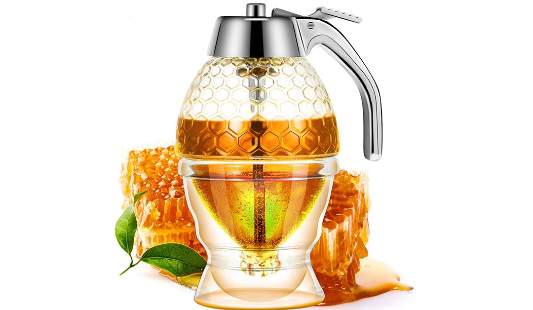 Amazon | BEST PRICE + COUPON: Acrylic Honey Dispenser