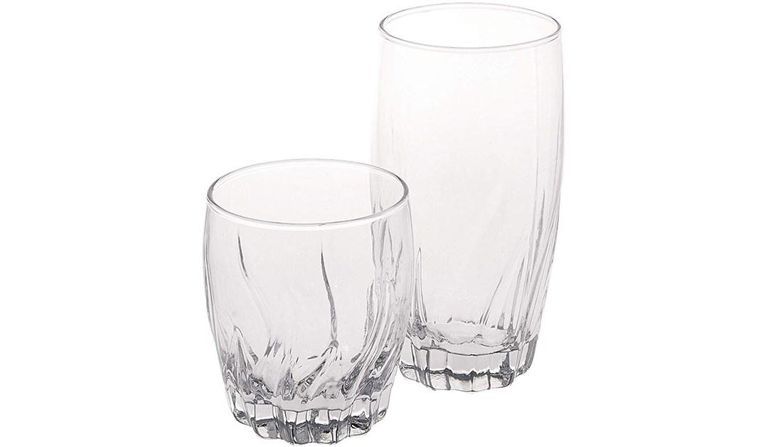 Amazon | GOOD DEAL: Anchor Hocking 16-piece Drinking Glasses Set