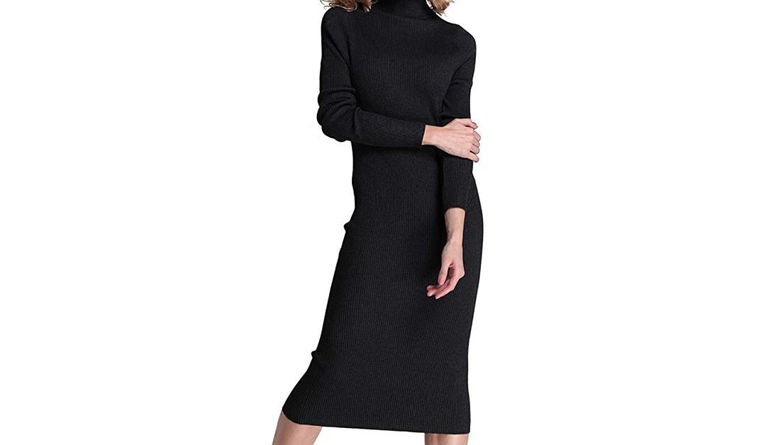 Amazon | BEST PRICE: Rocorose Turtle Neck Sweater Dress