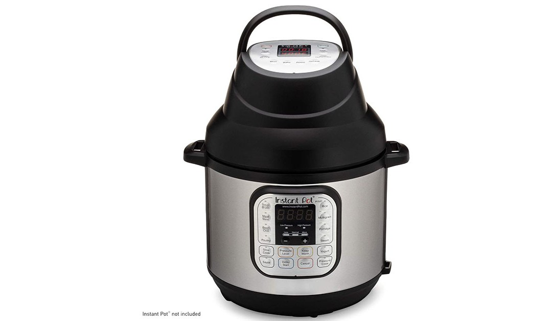 Amazon | BEST PRICE: Instant Pot Duo Crisp Pressure Cooker 11 in 1, 8 Qt with Air Fryer, Roast, Bake, Dehydrate and more