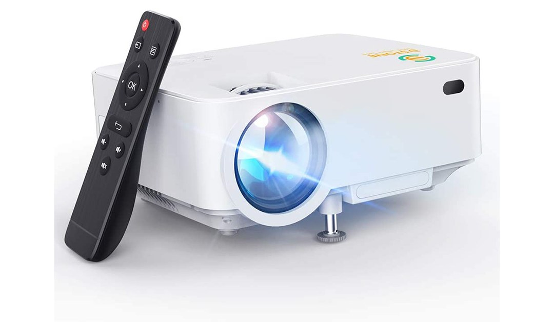 Amazon | BEST PRICE + COUPON: Mini Projector, 3Stone Upgraded 3000L Portable LCD Video Projector with 1080P Supported and Built-in Speakers, Multimedia Home Theater Small Projector Compatible with HDMI, USB, AV, DVD, VGA, Laptop
