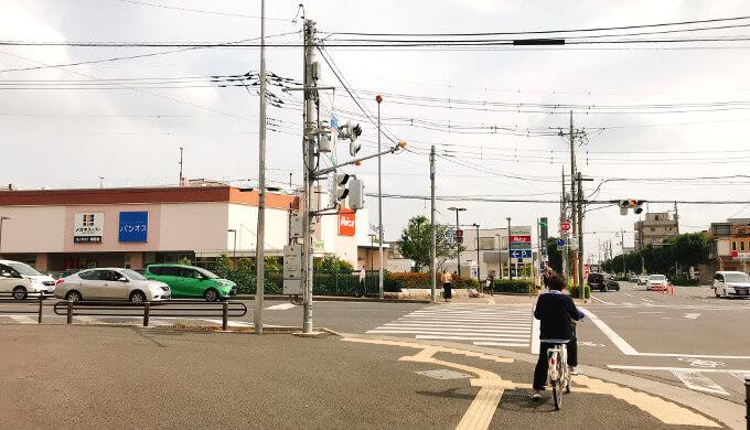 いわたき(せんげん台駅前交差点)