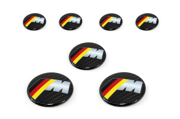 Carbon fiber BMW M German badge intake cover KIT
