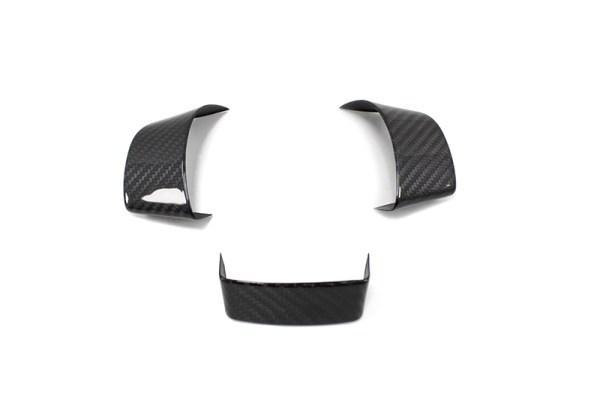 Carbon fiber VW Golf 5 steering wheel trim set