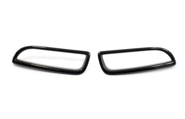 Carbon fiber 500 abarth cover frame rear reflector