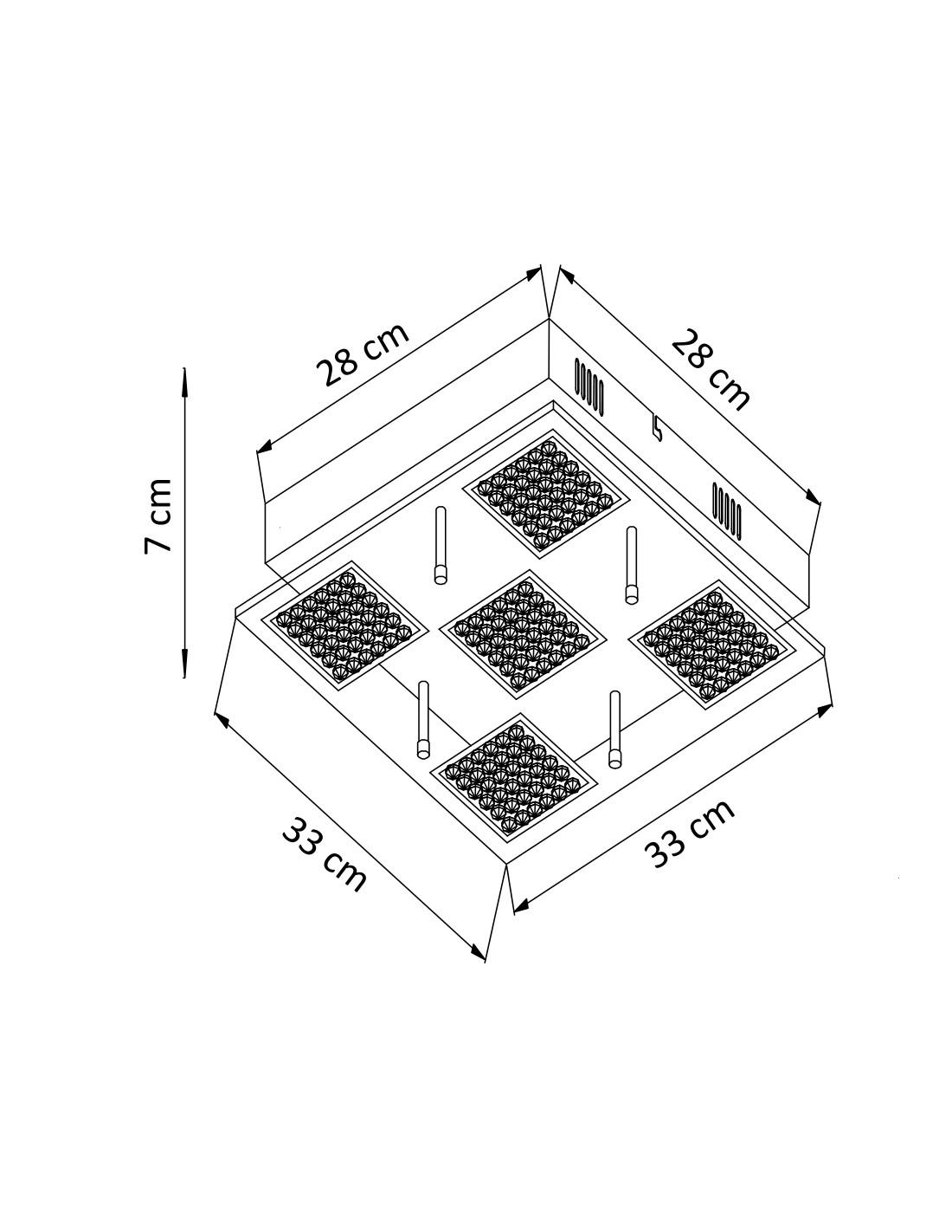 Square Shape Led Light Fitting