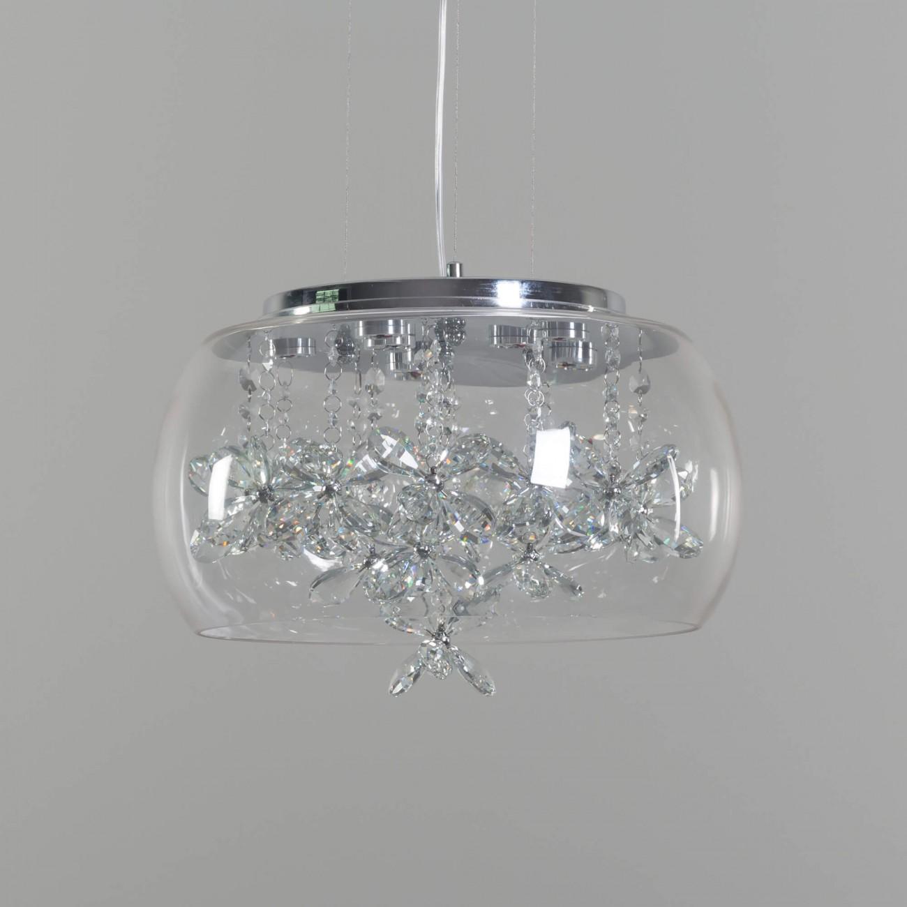 Modern Led Pendant Light Crystal Design