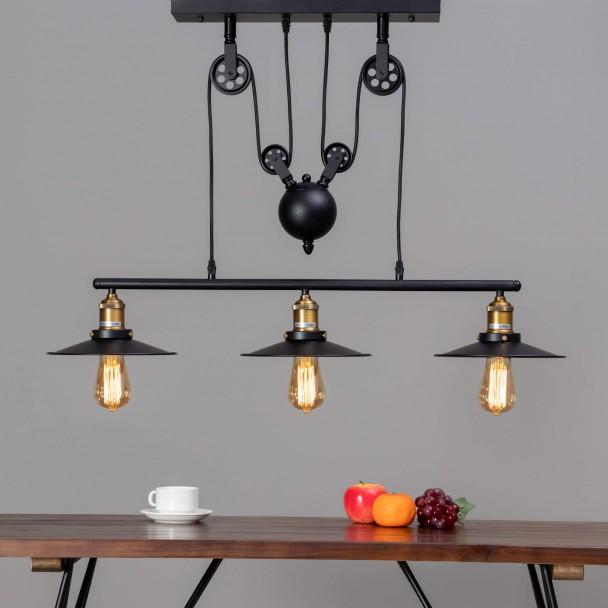 lampe industrielle suspension triple piattino