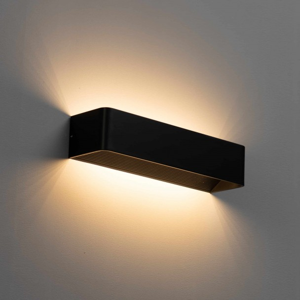 applique rectangle moderne a led noire quadra kosilum com