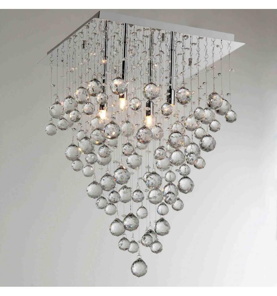 Grand Lustre Cristal Design Arbre