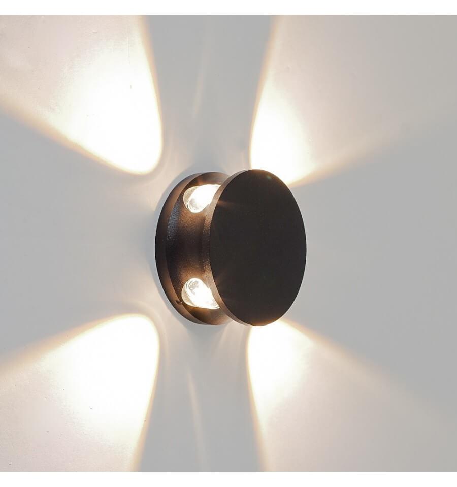 Applique LED Extrieur Design Kina Noire