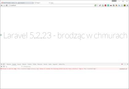 CSP img-src - efekt z włączoną dyrektywą (źródło http://localhost/img/) - Chrome