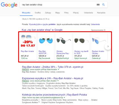 Wynik wyszukiwania okularów