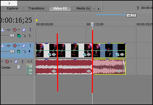 How to slow down the video in Sony Vegas about or speeding it with built-in money or plugin