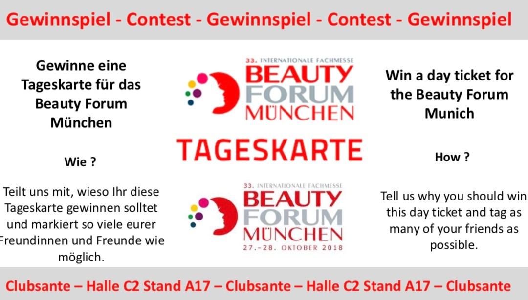 Gewinnspiel – Contest – Tageskarte Beauty Forum