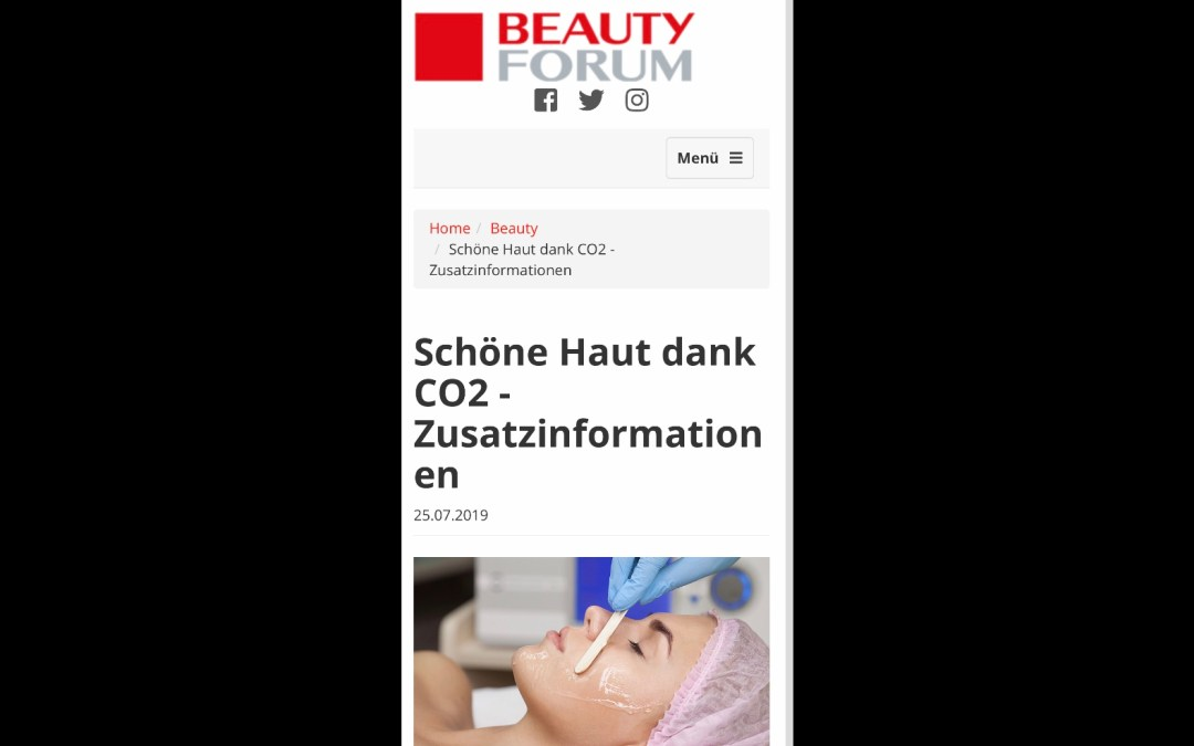 Carboxy Gel Methode – Auch bekannt aus dem Beauty Forum Magazin