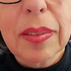 Lippenkontur und Schattur nachher